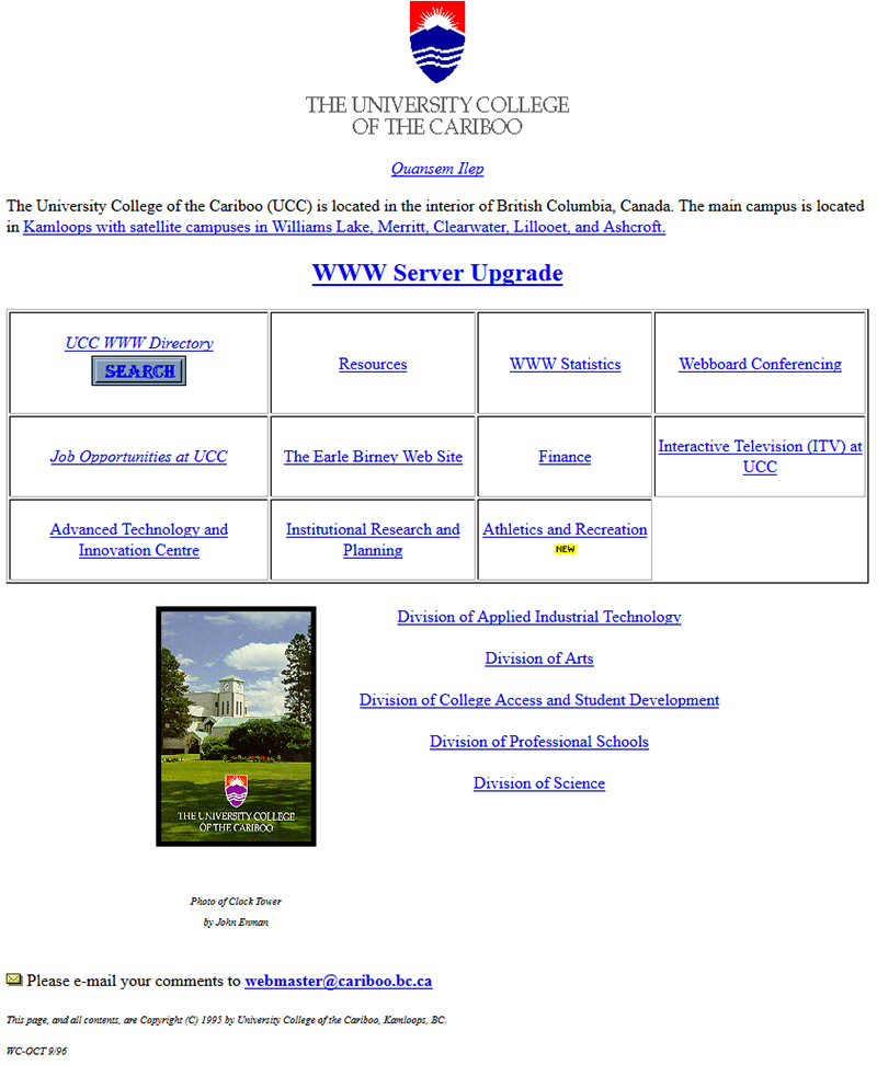 1996 home page