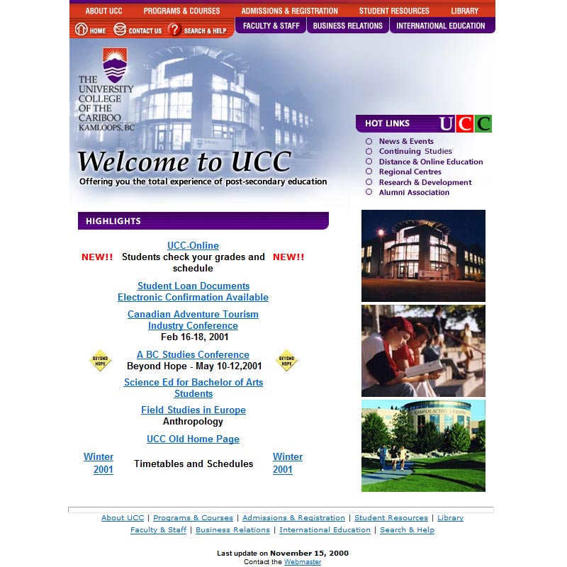 2000 home page