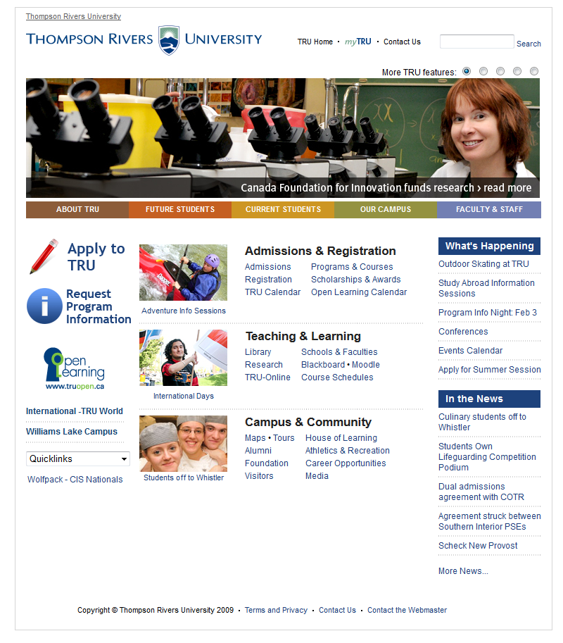 2010 home page
