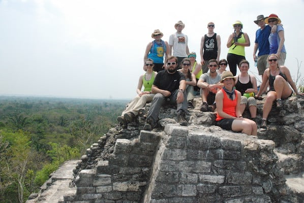 BNRS students atop ancient structure