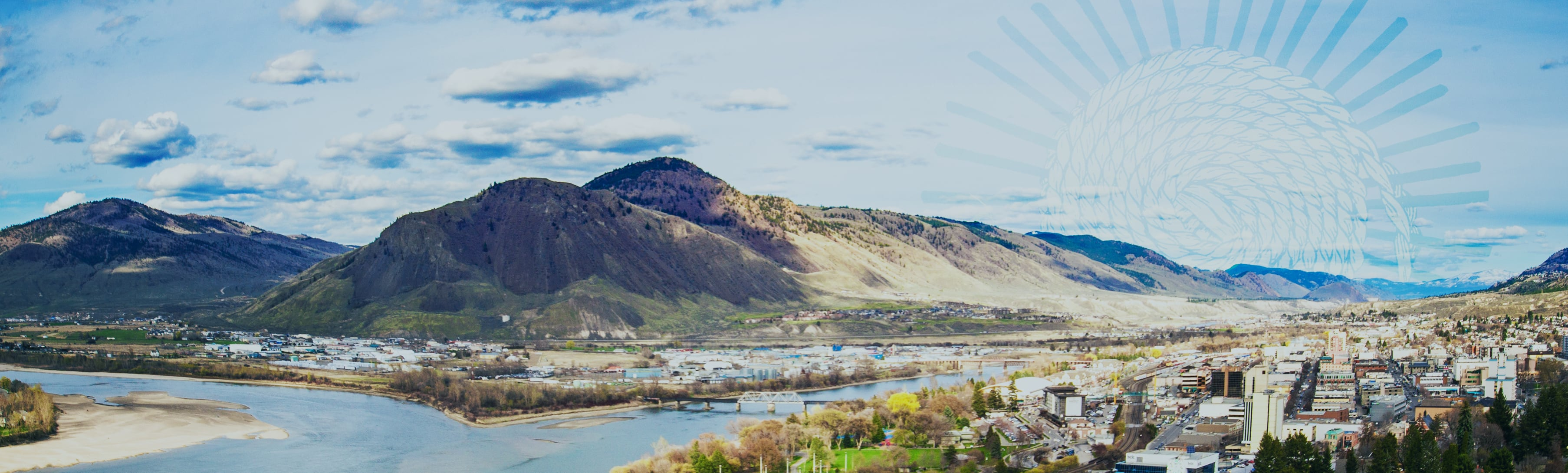 Panoramic view of Kamloops North Shore