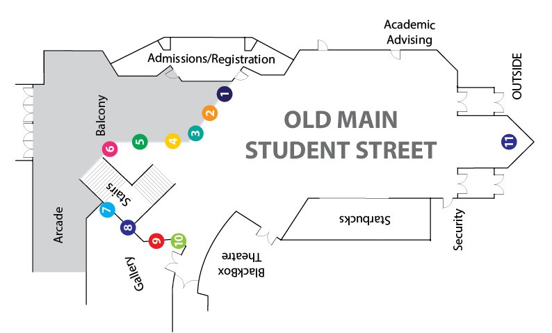 Student Street Banner Map