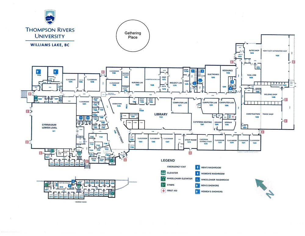 TRU Williams Lake Campus Map