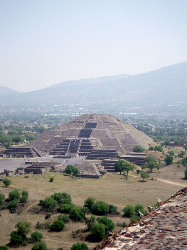 The pyramids at Teotihuacan