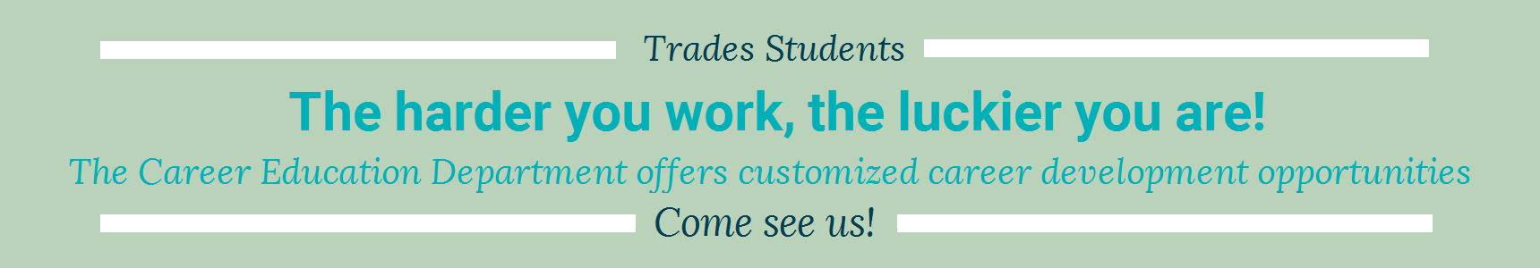 Trades Students