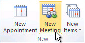 New Meeting in Calendar
