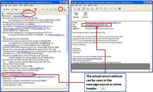 A closer look at phishing emails.