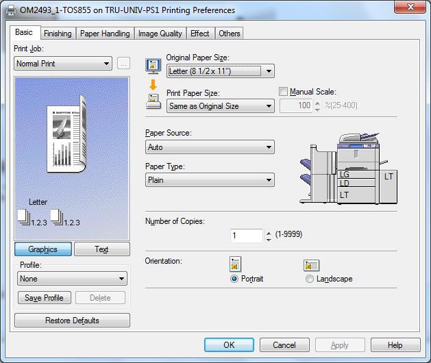 Enter Printer Dept Code-Toshiba