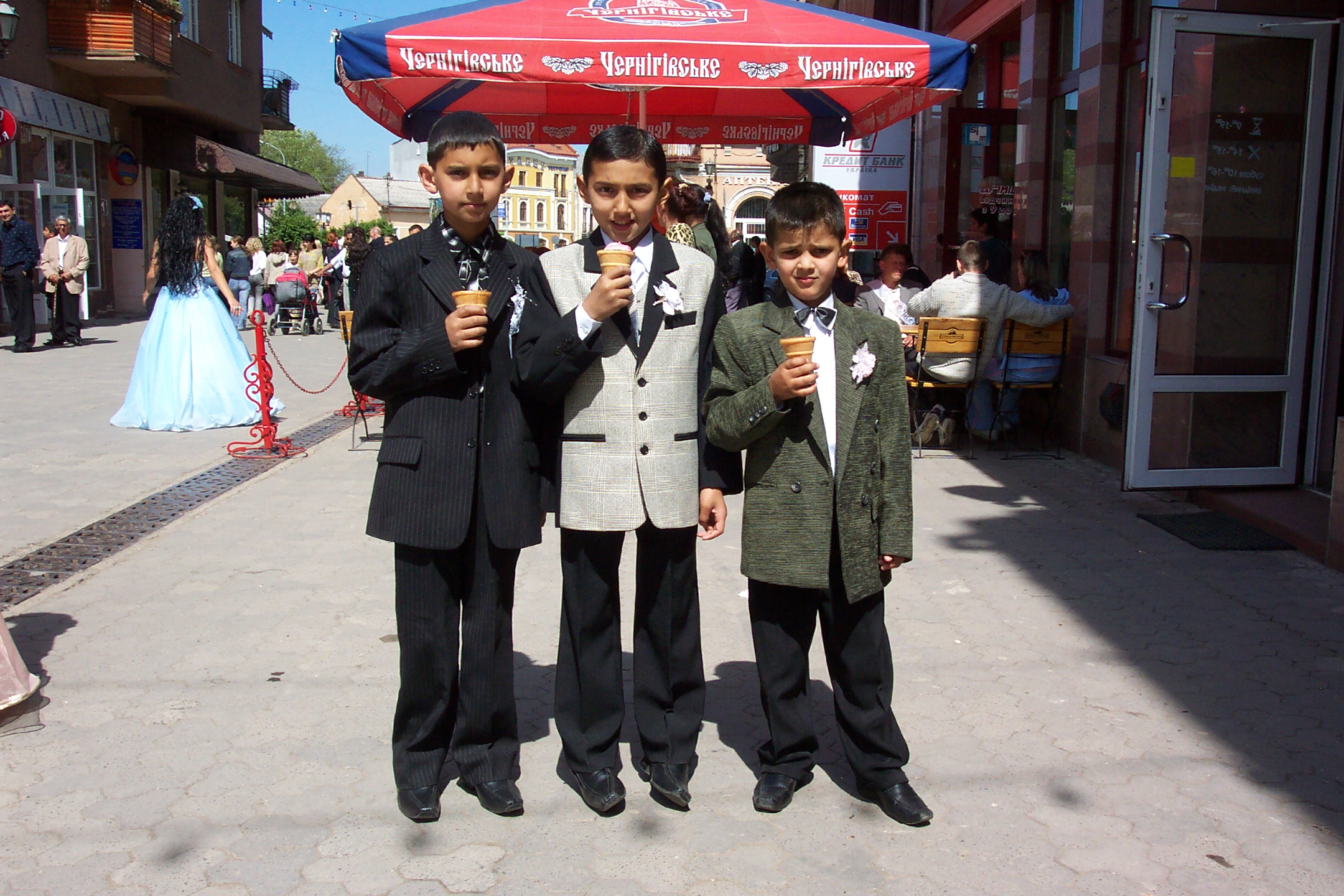 Romani boys in Uzhhorod