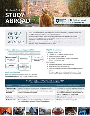 Study Abroad Student Guide